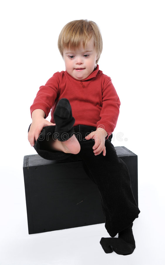 Kind met benedensyndroom royalty-vrije stock afbeelding