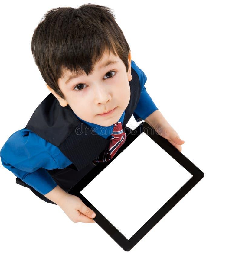 Kind met digitale tablet royalty-vrije stock foto