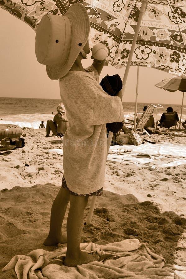 Kind met hoed royalty-vrije stock fotografie