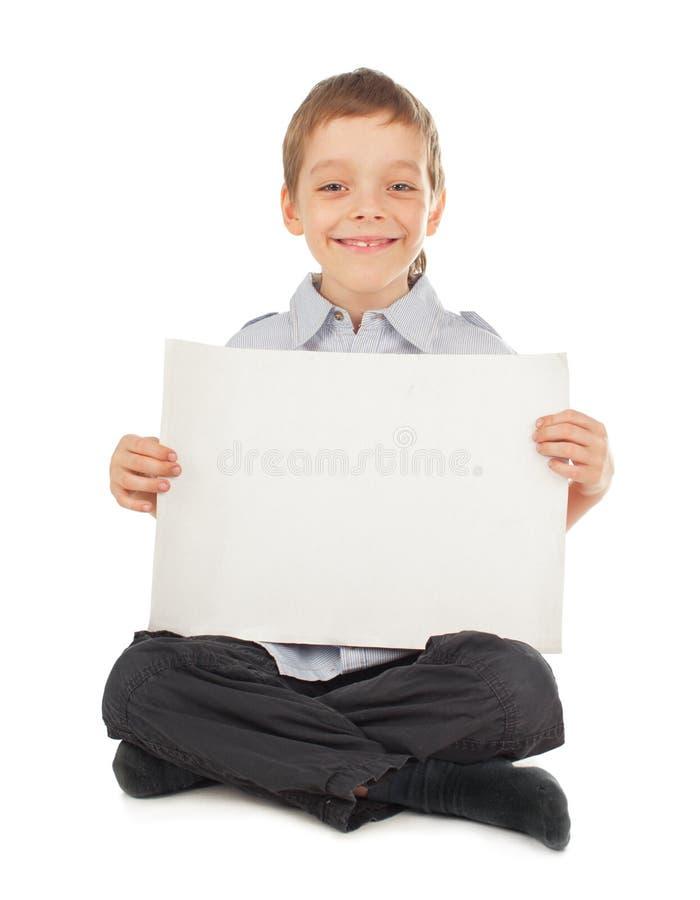 Kind met lege spatie stock afbeelding
