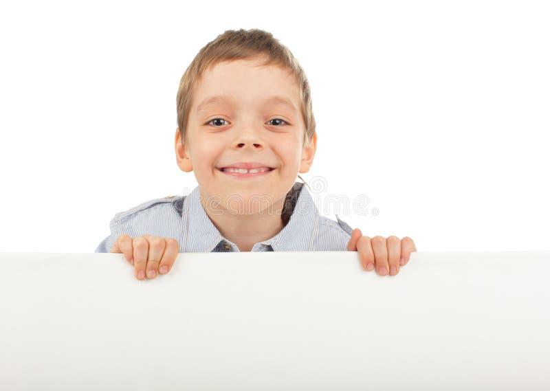 Kind met lege spatie stock fotografie