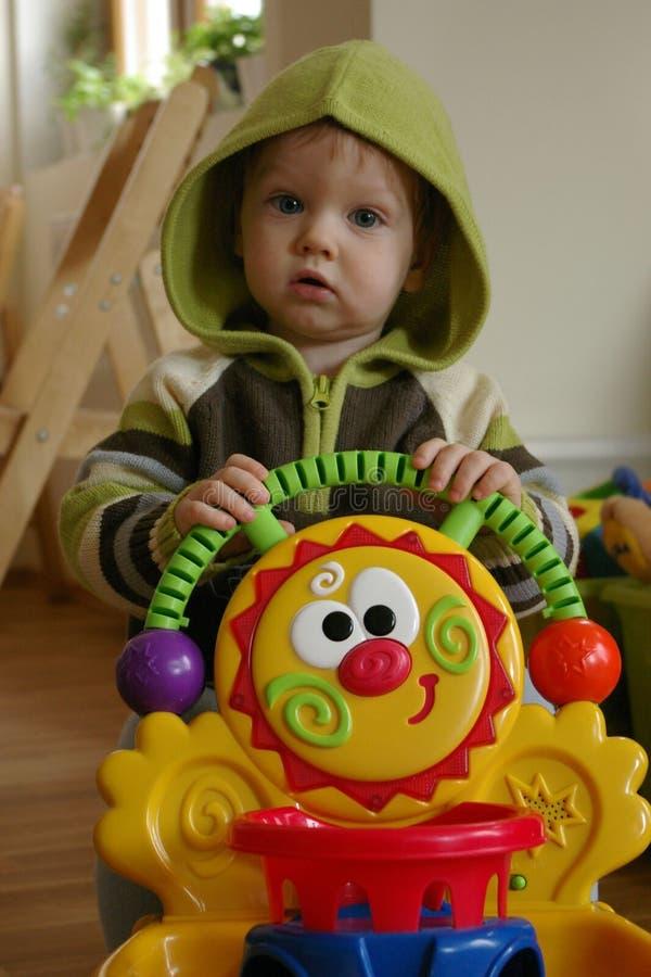 Kind met leurder royalty-vrije stock fotografie