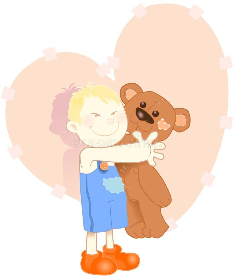 Kind met teddybear royalty-vrije illustratie