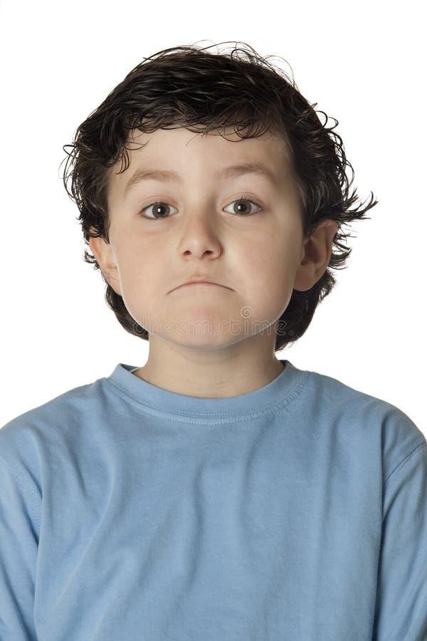 Kind met uitdrukking van twijfel royalty-vrije stock afbeelding