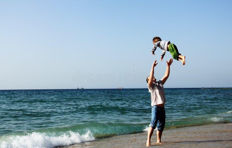 Kind met vader stock foto