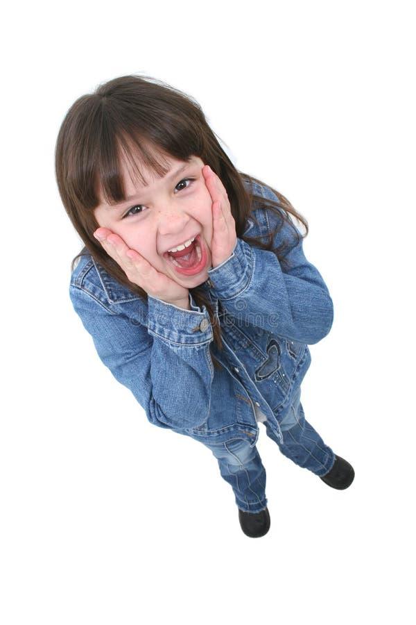 Kind mit überraschtem Ausdruck stockfotografie