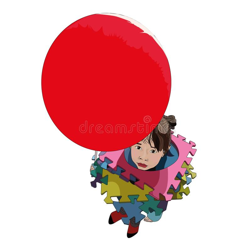 Kind mit Ballon lizenzfreie stockfotos