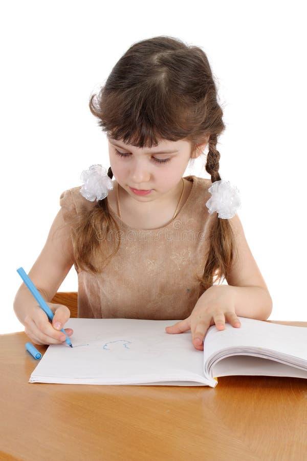 Kind mit Buch lizenzfreie stockfotos