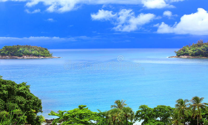 Kind on ocean royalty free stock photography