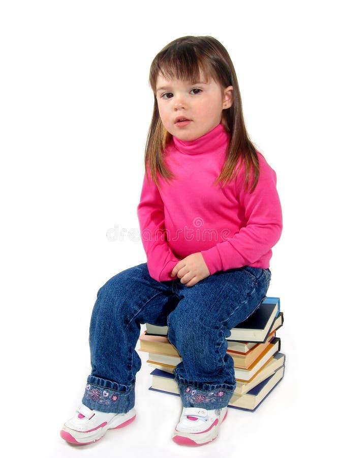 Kind op Boeken royalty-vrije stock afbeelding