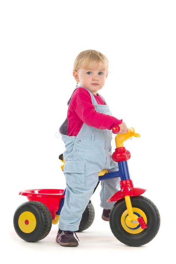 Kind op driewieler royalty-vrije stock fotografie