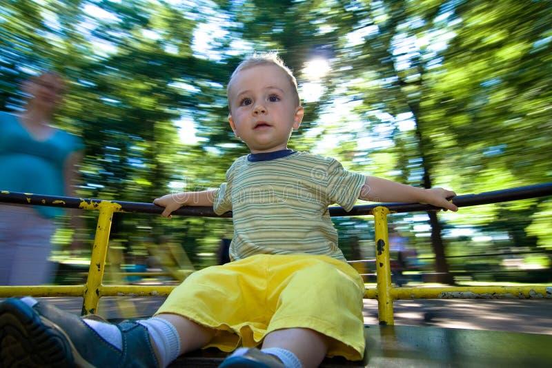 Kind op rit royalty-vrije stock afbeelding