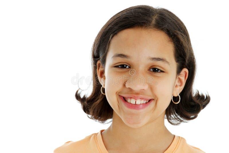 Kind op Witte Achtergrond royalty-vrije stock fotografie