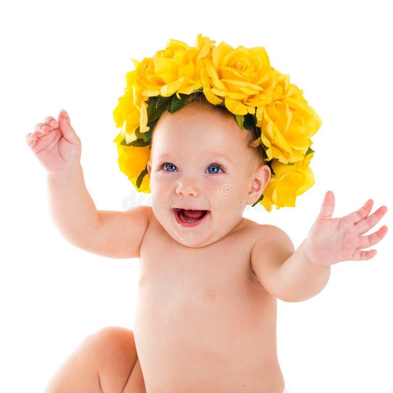Kind Porträt des schönen glücklichen Schätzchens stockfotos