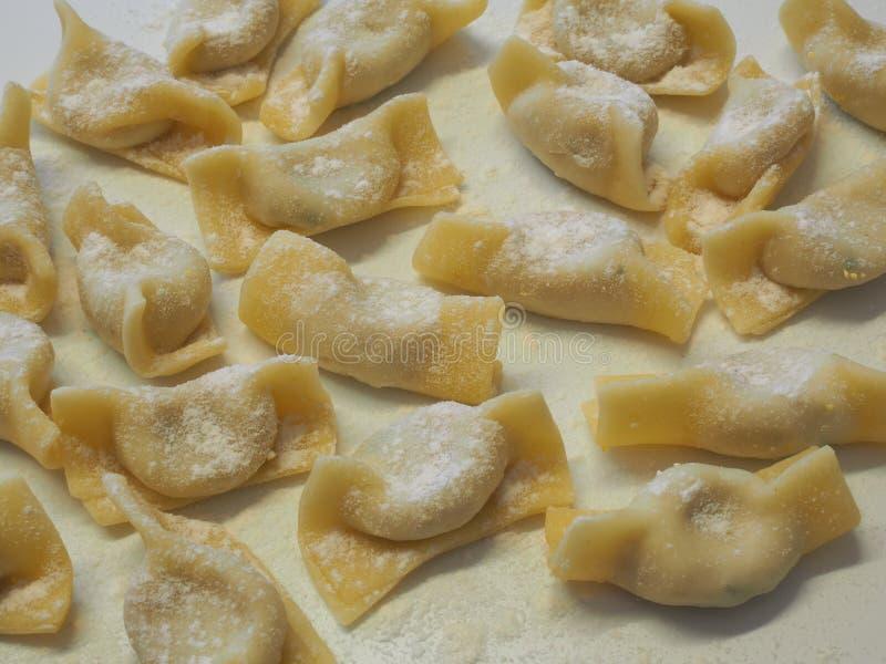 A kind of ravioli, casoncelli, home made traditional food of the Bergamo area, Italy. Delicious Italian food stock image