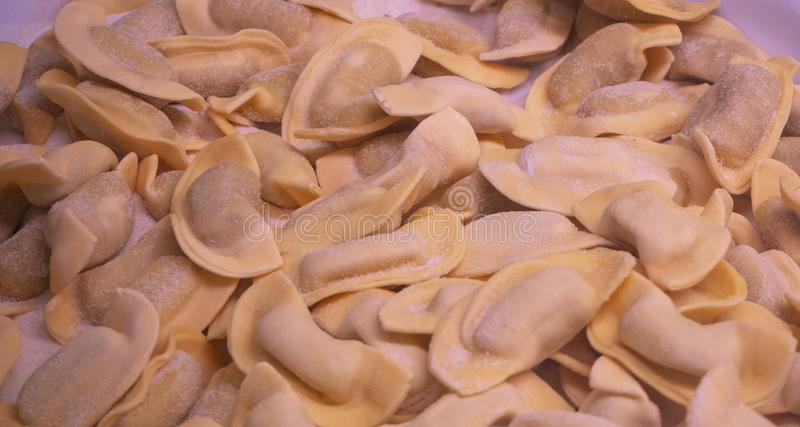 A kind of ravioli, casoncelli, traditional food of the Bergamo area, Italy. Home made food royalty free stock photography