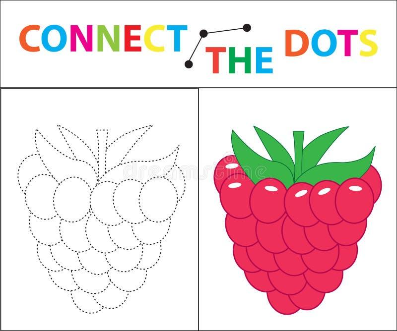 Kind-` s Lernspiel für Bewegungsfähigkeiten Schließen Sie das Punktbild an Für Kinder des Vorschulalters Kreis auf vektor abbildung
