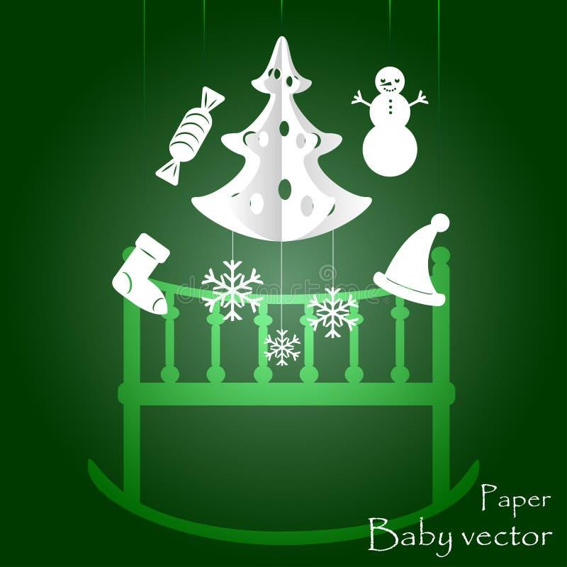 Kind-` s Mobile für Baby auf Weihnachten ENV 10 stockbild