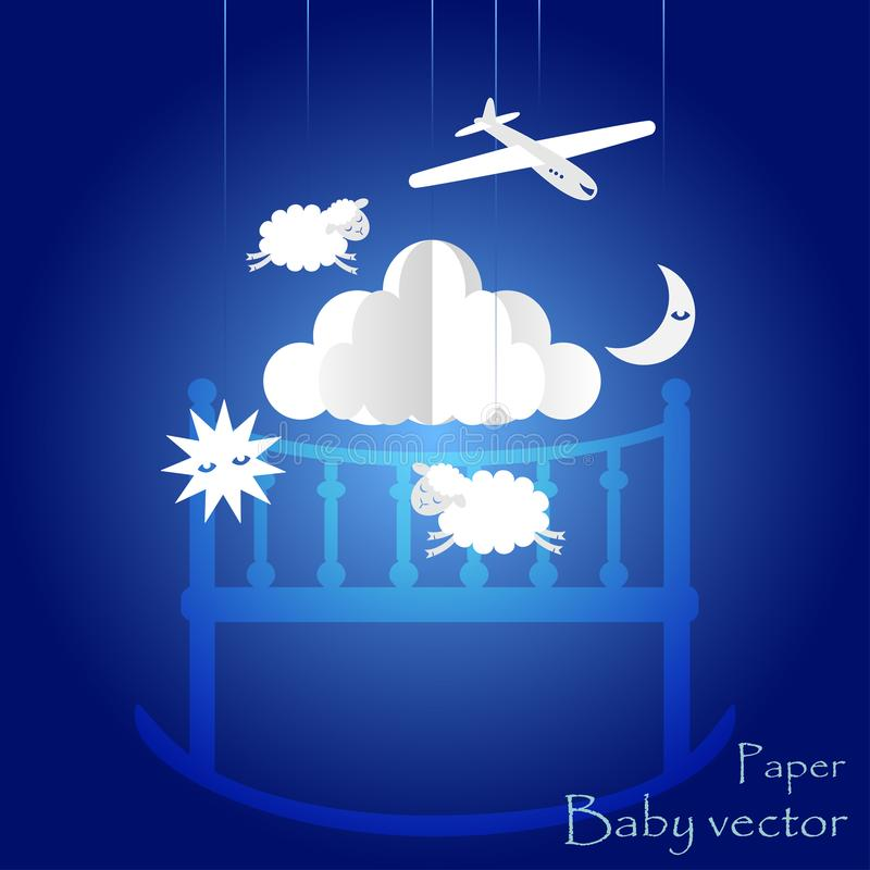 Kind-` s Mobile für Baby ENV 10 lizenzfreies stockbild