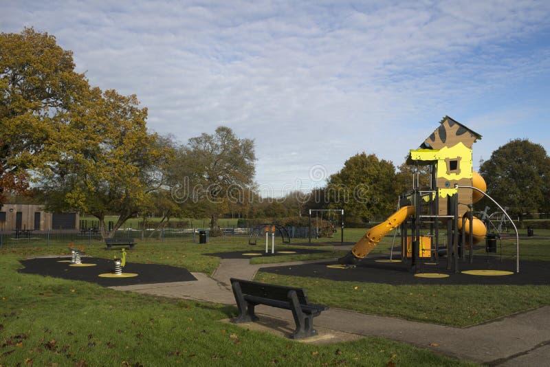 Kind-` s Spielplatz in Wickford Memorial Park, Essex, England stockfoto