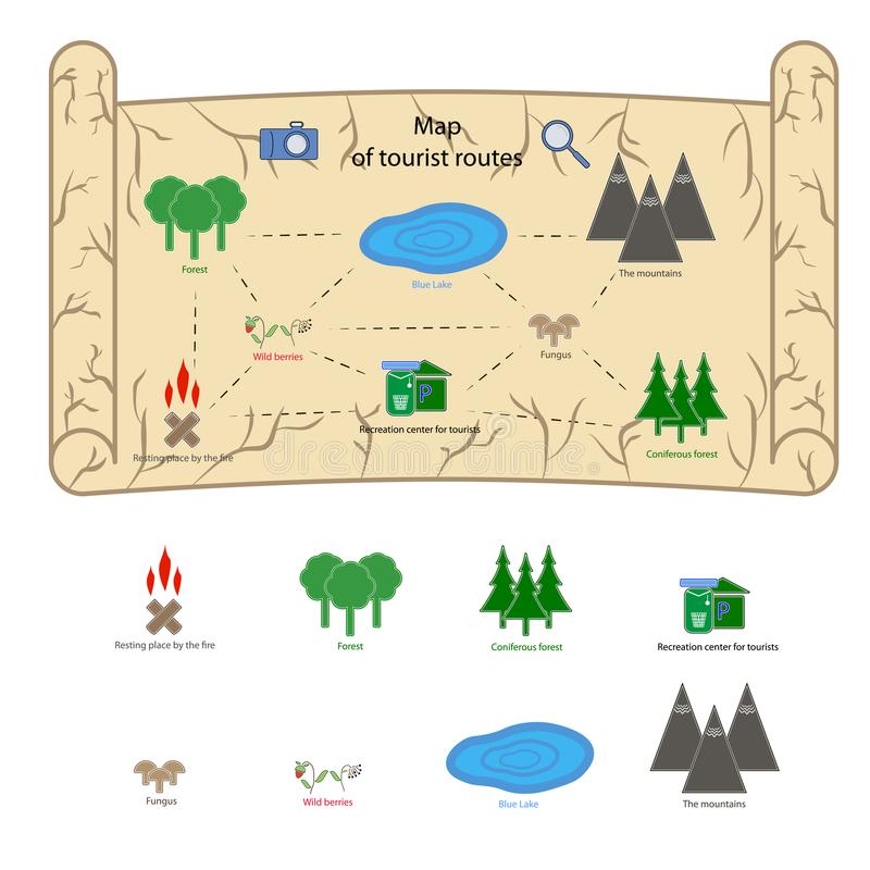Kind-` s Spielplatzkarte stockfotos