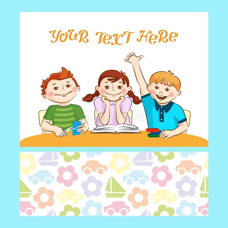 Kind-` s Tätigkeit Jungen und Mädchen engagierten sich ihr Hobby lizenzfreie abbildung