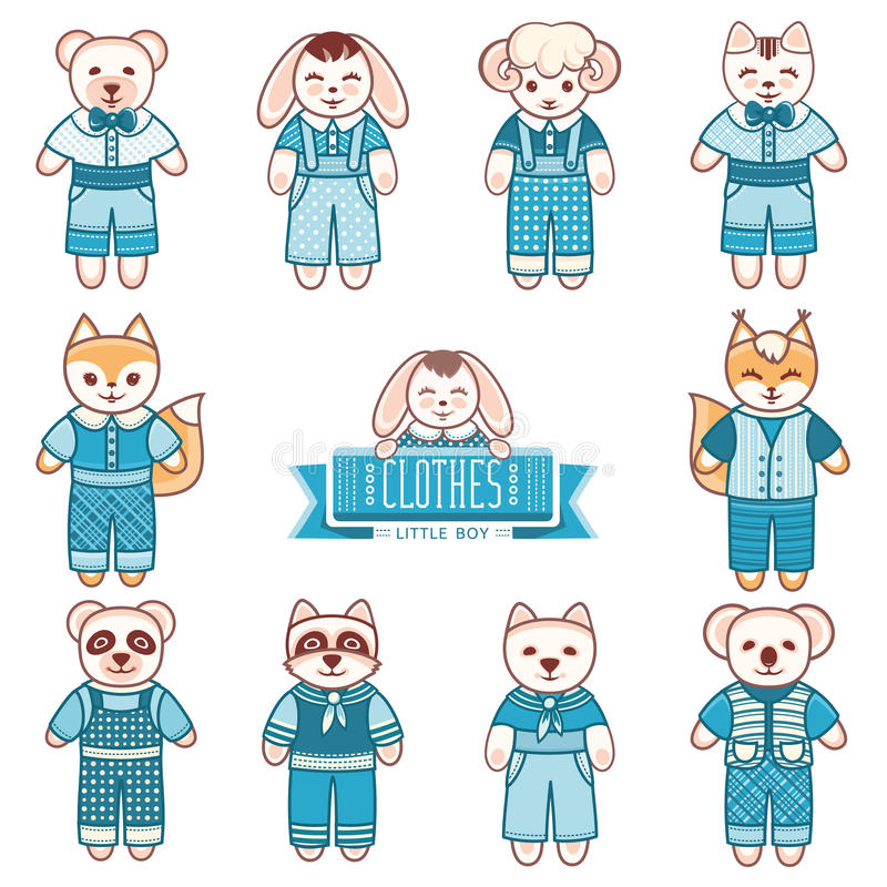 Kind-` s Tierverzierung Kindernettes Haustier vektor abbildung