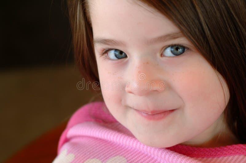 Kind-schönes Mädchen lizenzfreies stockbild
