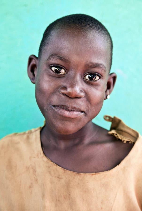 Kind in school in Oeganda royalty-vrije stock foto