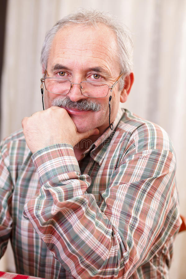 Download Kind senior man stock photo. Image of aging, alone, indoor - 28870980