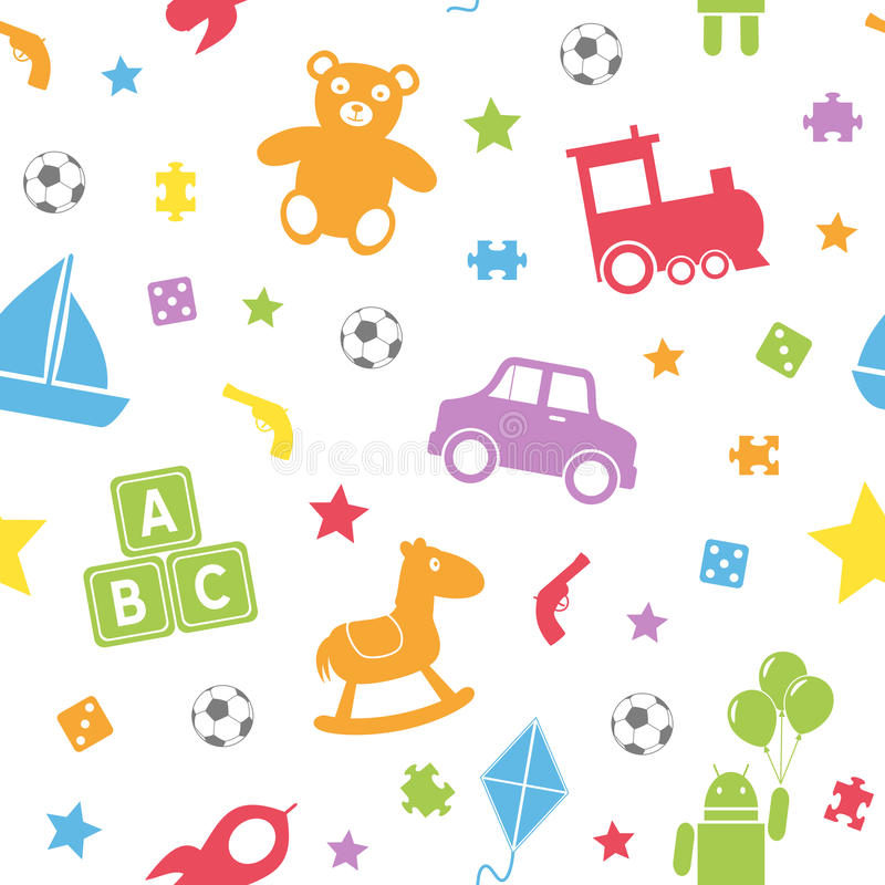 Kind-Spielwaren-nahtloses Muster [1] stock abbildung