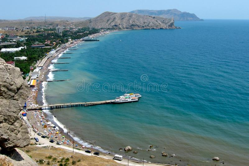 Kind of Sudak city royalty free stock images