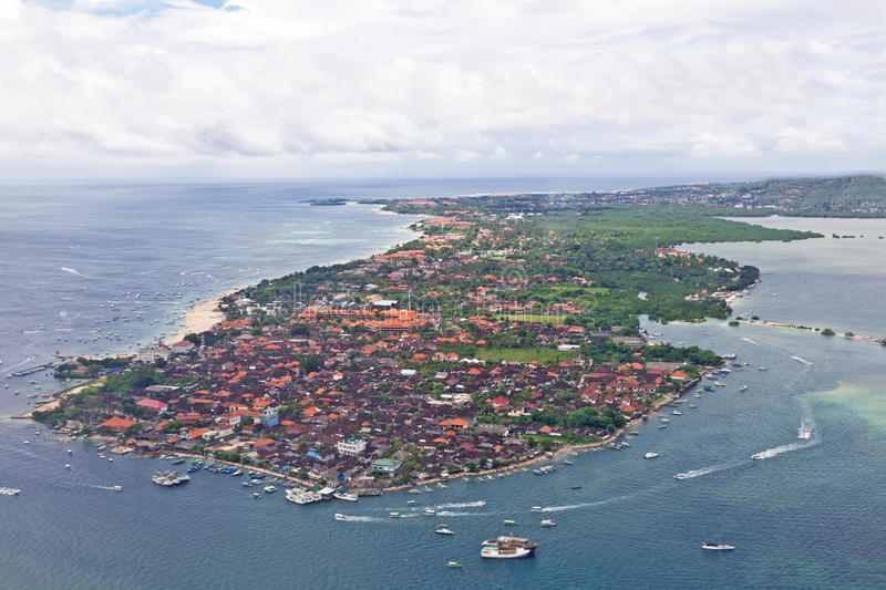 Kind to Bali. From height of the bird's flight stock photography
