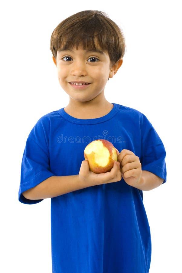 Kind und Apple lizenzfreie stockfotografie