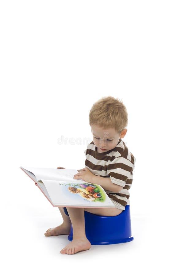 Kind und potty stockfotografie