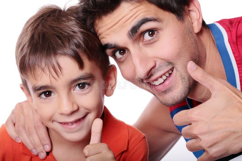 Kind und Vater stockfoto