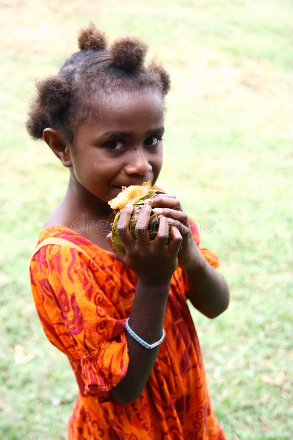 Kind in Vanuatu lizenzfreies stockbild