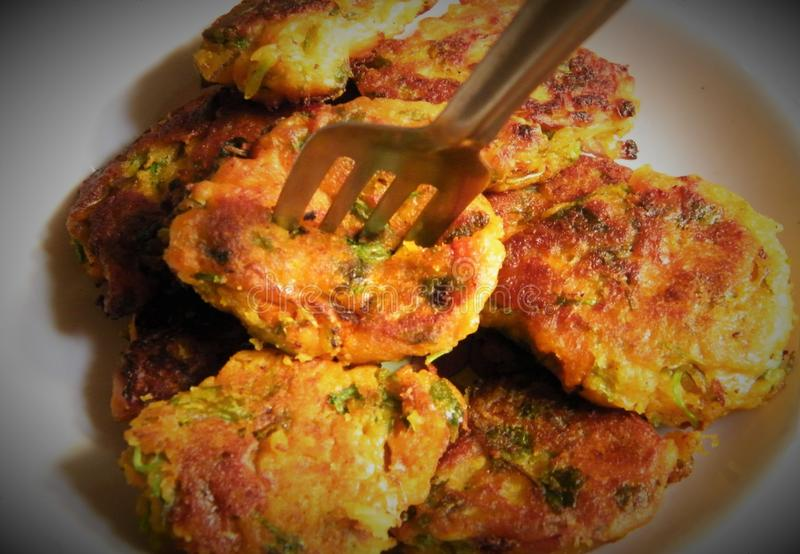 This a kind of veg pakora. It is a indian food royalty free stock photo