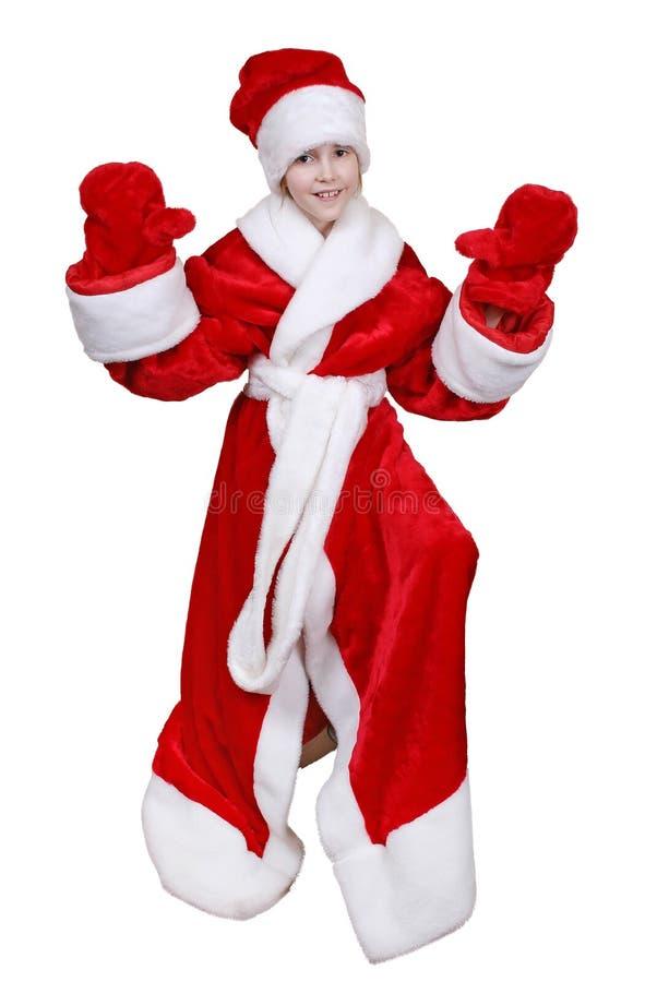 Kind Weihnachtsmann stockfotos
