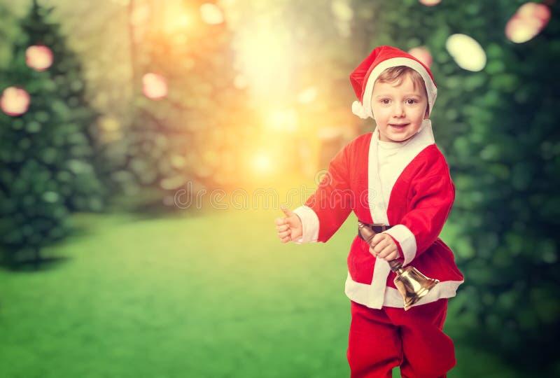 Kind Weihnachtsmann stockbilder