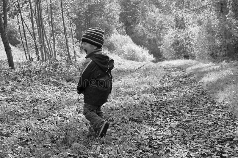 Kind in wildernis royalty-vrije stock afbeelding