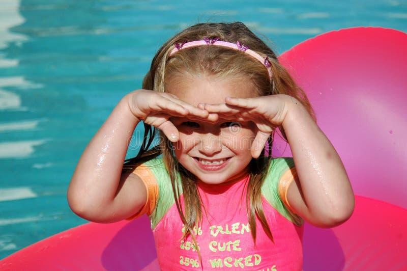 Kind in zon royalty-vrije stock fotografie
