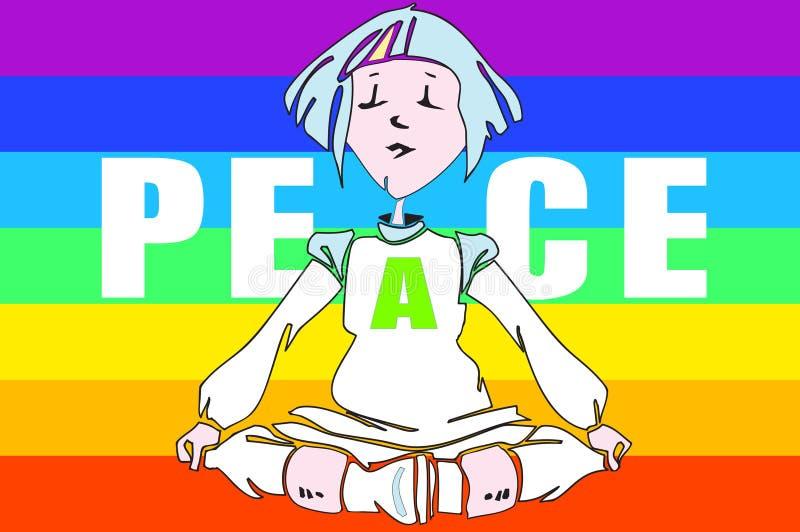 Kindausbildung - Yoga - lizenzfreie abbildung