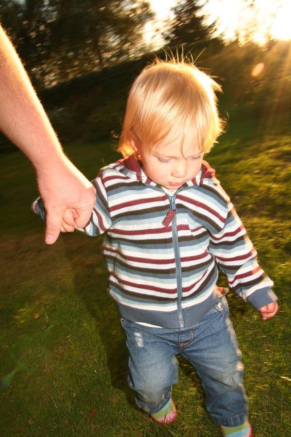 Kindeinflußhand stockbild