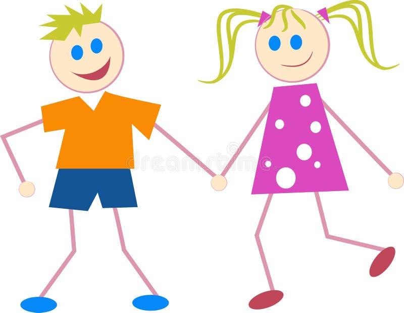 Download Kinder vektor abbildung. Illustration von paare, graphiken - 44761