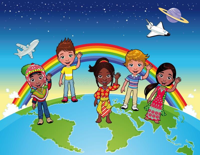 Kinder auf der Welt. lizenzfreie abbildung