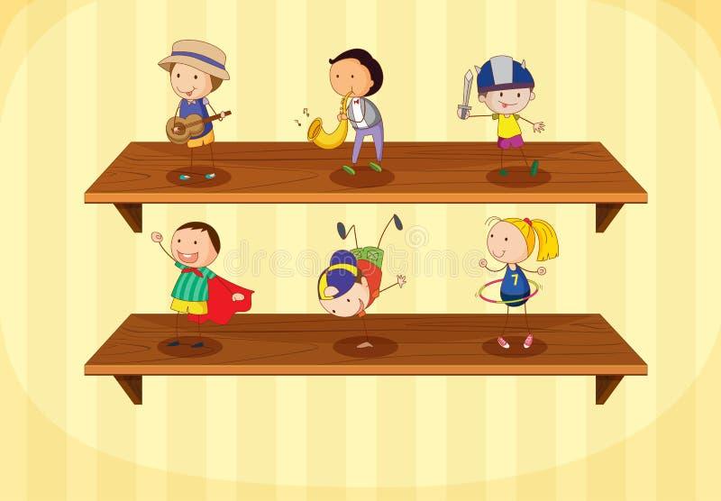 Kinder auf einem Regal vektor abbildung