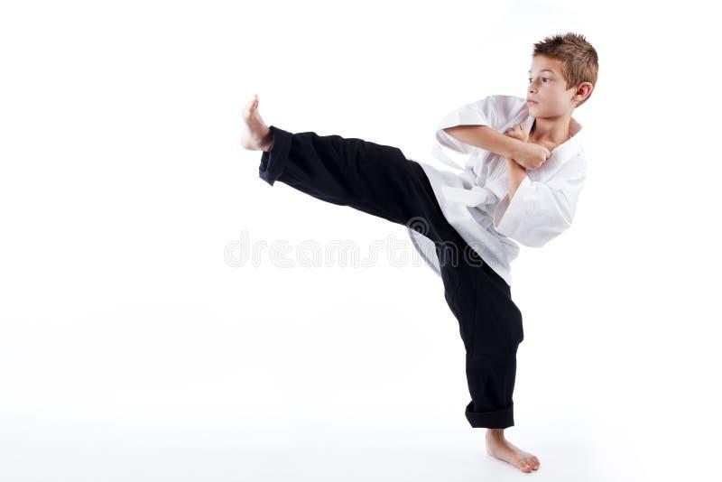 Kinder in der Kampfkunst lizenzfreie stockfotografie