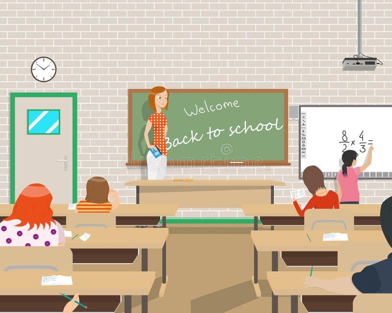 Kinder in der Klasse lizenzfreie abbildung