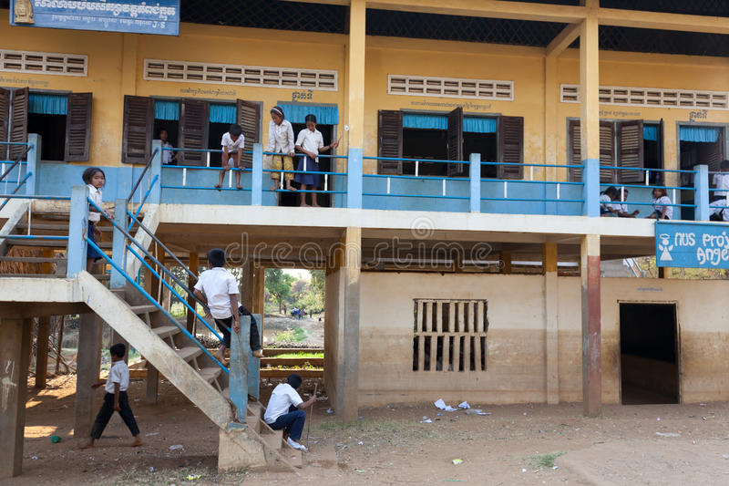 Kinder an der Schule, Kambodscha lizenzfreie stockfotos